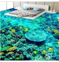 Vivid Modern Design Colorful Fishes in the Coral Pattern Waterproof 3D Floor Murals