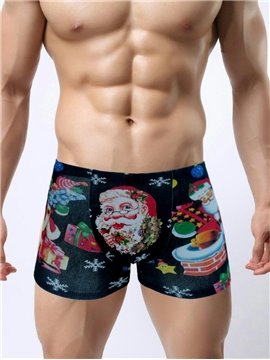 Hot Merry Christmas Series Popular With Lovely Santa Claus Festive Elements 3D Print Man's Briefs