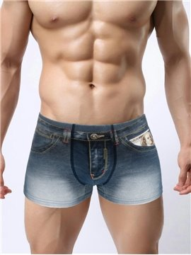 Distress Crafts Fashion Old 3D Jeans Style Design Cotton Material Cozy Creative Man Briefs