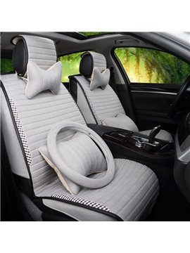 Beautiful Embroidered Edge Design With Fashion Stripe Style Universal Car Seat Cover