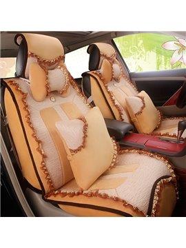 Fashion Women Lace Style Design Velvet Soft Universal Car Seat Cover