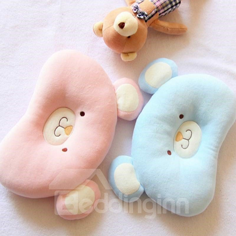 Cute Bear Shape Design Prevent Flat Head Newborn Pillow