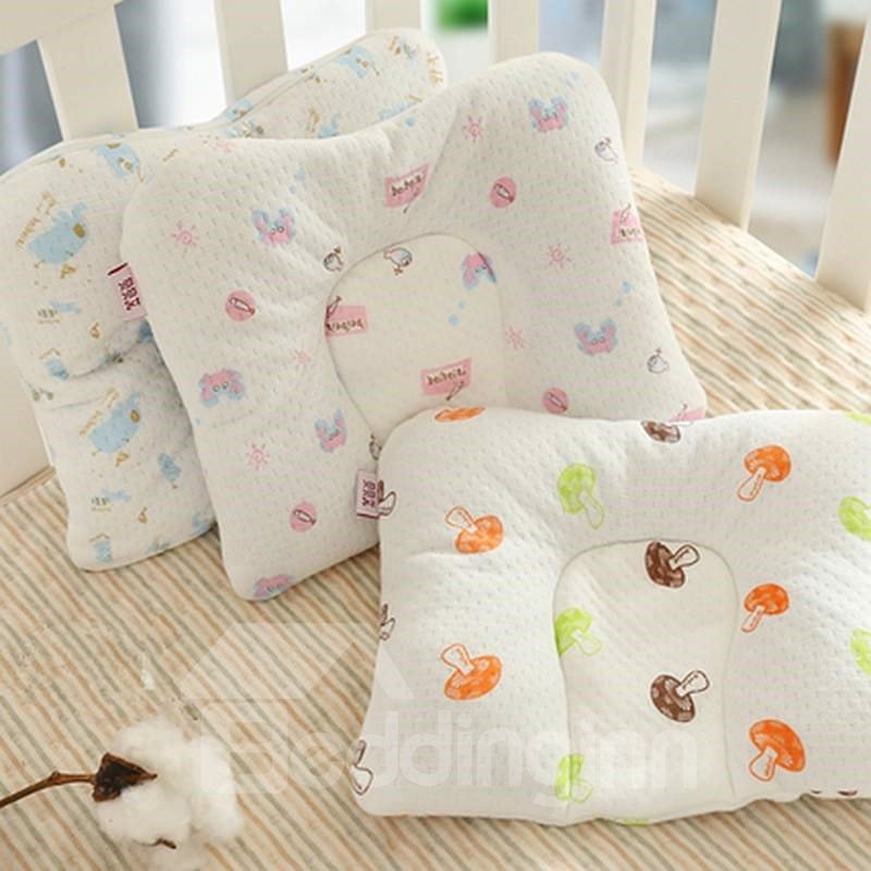 Cute Simple Design Buckwheat Inner Prevent Flat Head Baby