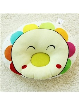 Colorful Sunflower Pattern Prevent Flat Head Baby Pillow