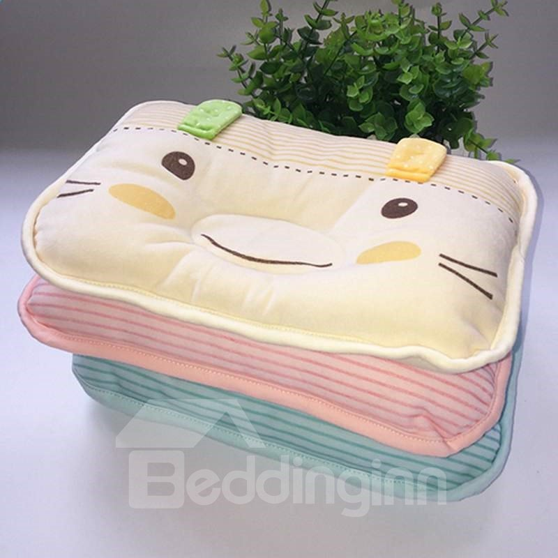 Softy Cat Face Design Prevent Flat Head Baby Pillow