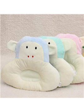 Super Cute Comfy Monkey Shape Prevent Flat Head Baby Pillow