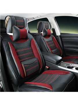 Colorful	Tough Soft PVC Leather With Ice Silk Luxury Universal Car Seat Cover