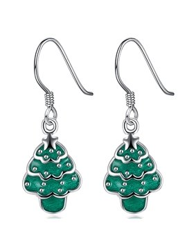 Popular Christmas Tree Design Pendant Earring