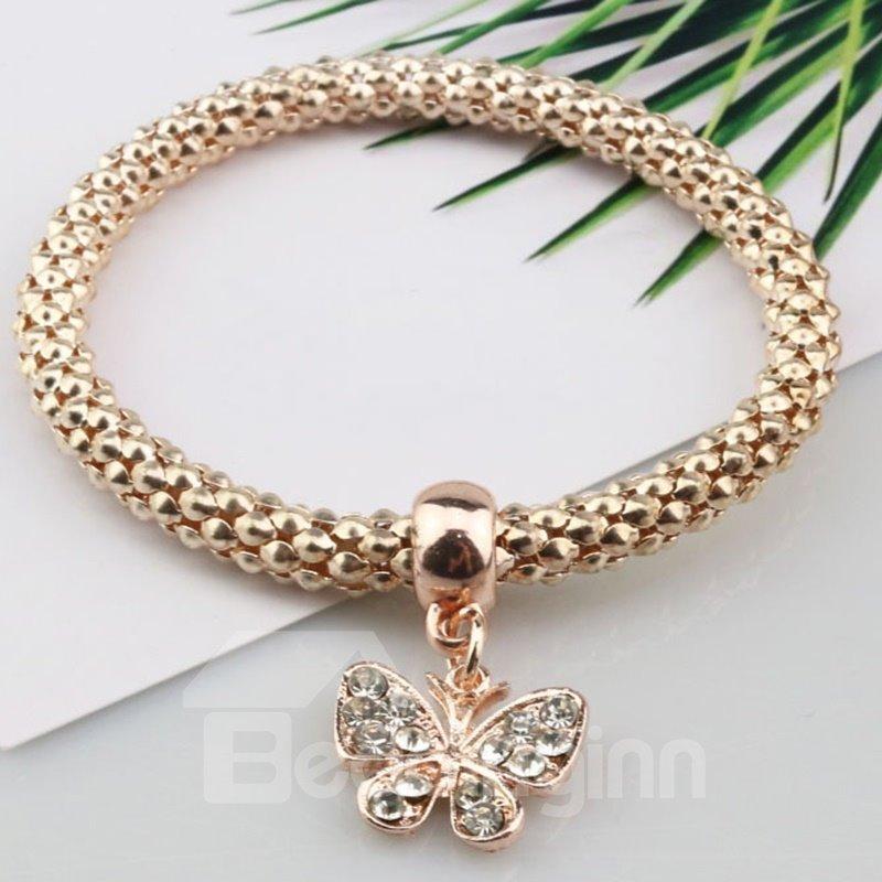 Modest Multi-Layers Shining Butterfly Design Wrap Bracelet
