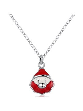 Cute Cartoon Lion Face Design Alloy Pendant Necklace
