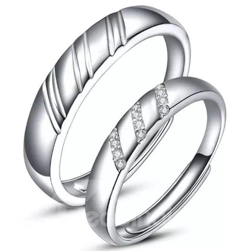 Special Design 925 Sterling Silver Couple Ring - beddinginn.com