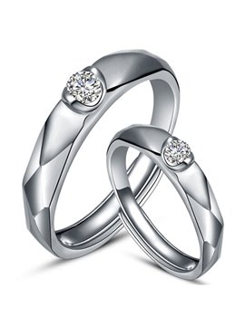 Diamond Rugged Design 925 Sterling Silver Couple Ring