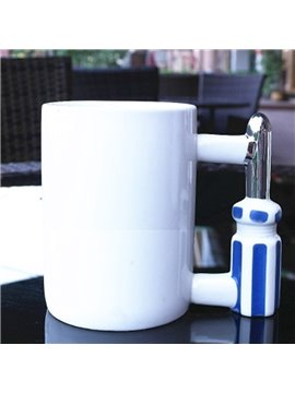Fancy Creative Ceramic Screwdriver Decoration Handmade Coffee Mug