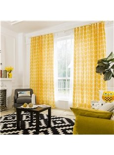 Contemporary Black and White Stripes Printing Cotton and Linen Blending Custom Curtain