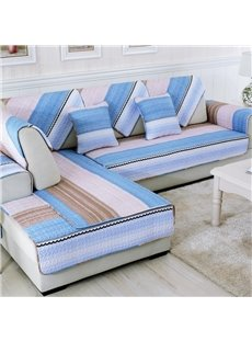 Unique Colorful Strips Print Living Room Decoration Slip Resistant Four Seasons Sofa Covers