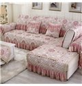 Stunning European Style Flower Print Cushion Slip Resistant Washable Sofa Cover
