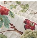 Blue/Green Flower Printings Cotton 1-Piece Slip Resistant Sofa Cover