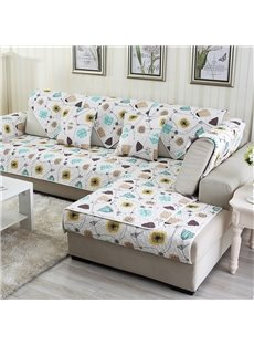 White Simple Style Home Decorative Non Slip Cushion Washable Sofa Covers