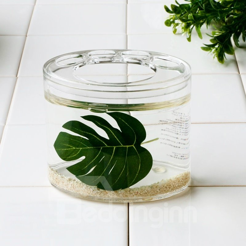 Charmant 75 Creative Green Leaf Design 4 Pieces Organic Glass Bathroom Accessories