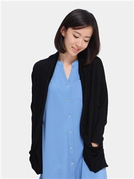 Merino Wool Short Loose Women 's Cardigan Home Dress