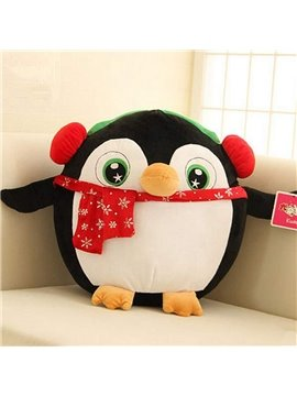 Christmas Style Cartoon Penguin Design Back Curshion