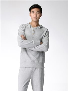 Fashion Buckle Design With Cap Cotton Comfortable Home Dress Sets
