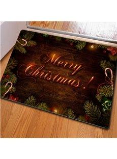 Unique Design Merry Christmas Decorative Felt Non Slip Doormat