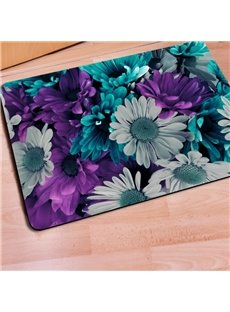 Fabulous Rectangle Daisy Flower Print Christmas Decorative Non Slip Doormat