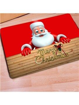 Amazing Rectangle Santa Claus Merry Christmas Home Decoration Doormat