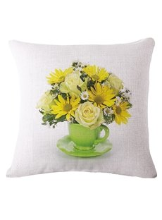 Gorgeous Saucer Arrangement Print Square Throw Pillow