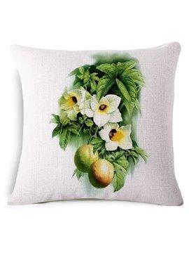 Attractive Momordica Cochinchinensis Print Square Throw Pillow