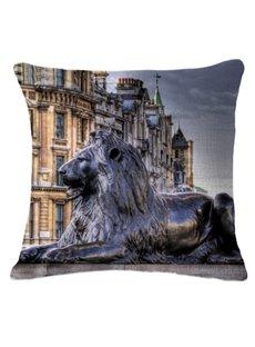 Excellent Trafalgar Square Print Square Throw Pillow