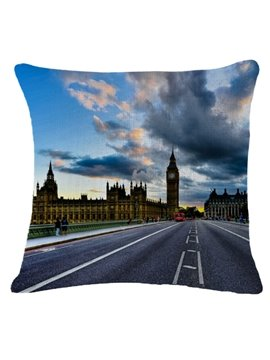 Famous Abbey Road Print Square Throw Pillow