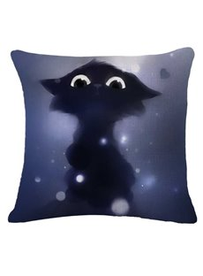 Lovely Halloween Chat Print Square Throw Pillow