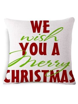 Cheerful We Wish You A Merry Christmas Throw Pillow
