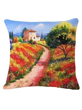 Magic View of Trail Print Square Throw Pillow