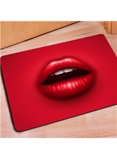 Sexy Rectangle Colorful Lips Print Non Slip Decorative Entrance Doormat