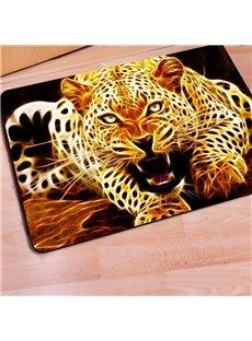 Special Design Rectangle Leopard Print Non Slip Entrance Doormat