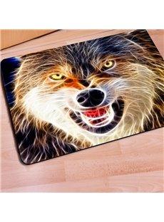 Durable Rectangle Wolf Print Outdoor Indoor Entrance Non Slip Doormat