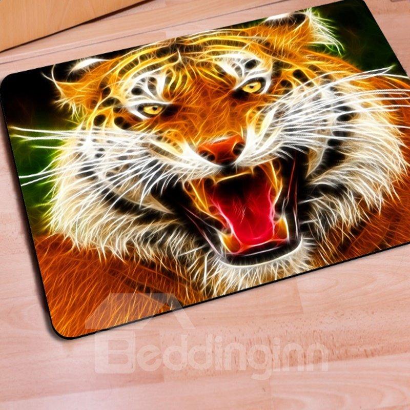 Realistic Rectangle Tiger Print Home Decorative Non Slip Doormat