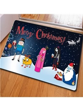Lovely Rectangle Cartoon Pattern Christmas Decoration Non Slip Doormat