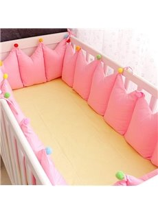 Adorable Solid Color 9-Piece Cotton Baby Crib Bedding Set