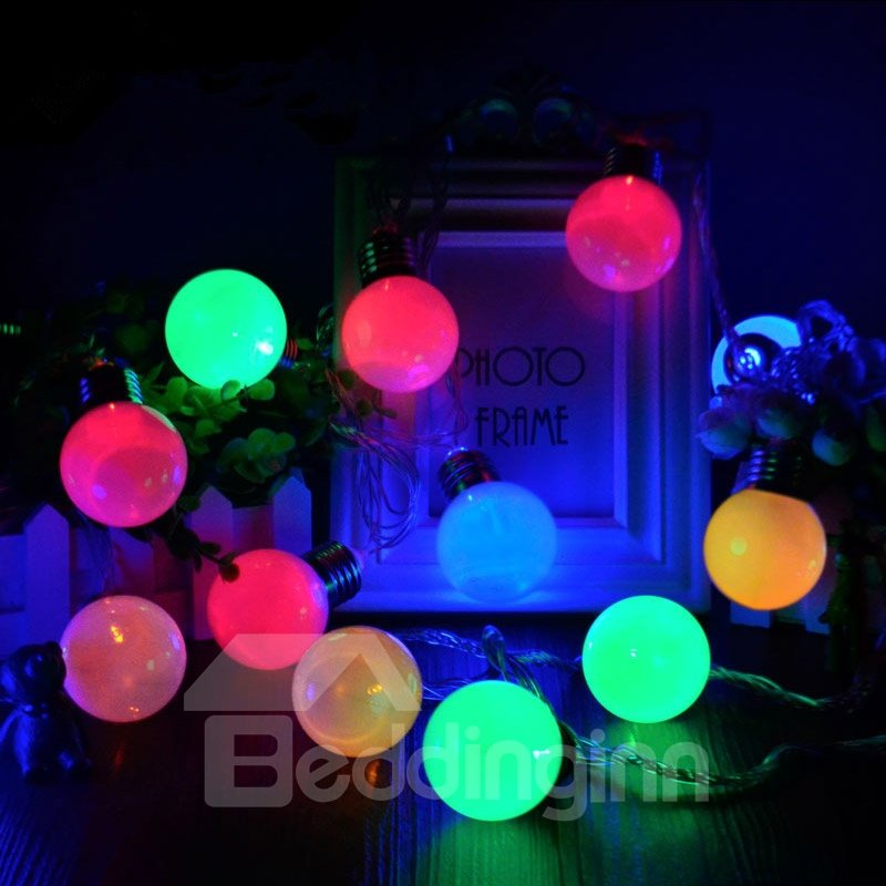 Modern Simple Style Christmas Decoration 13.1 Feet 20 Bulbs LED Lights