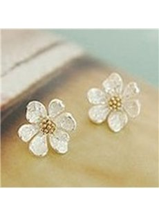 Vivid Cute Flower Design Alloy Earrings