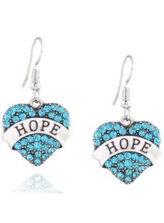 Lovely Multicolor Options Sweetheart Design Rhinestone Pendant Earrings