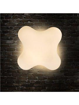 Creative White Clover Shape Design Modern Simple LED Wall Light