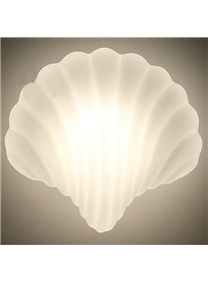 White Modern Simple Style Seashell Shape Home Decorative LED Wall Light