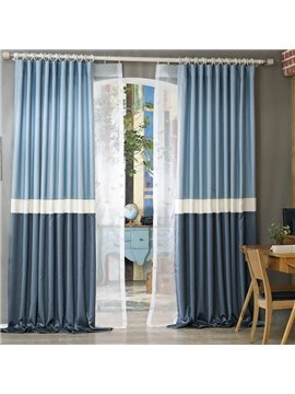 Mediterranean Style Designer Three Colors Cloth Splicing Custom Curtain