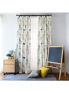 Colorful Embroidery and Applique Magic Town Custom Curtain
