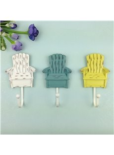 Fancy Cute Chair Shape 3 Pieces Home Decorative Wall Hooks